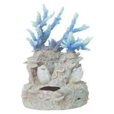 biorb coral reef ornament aquarium artificial plants blue target