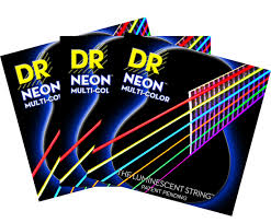 2 pack with free 3rd set dr hi def neon multi color k3 coated acoustic guitar strings 29 gif