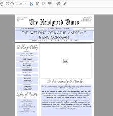 how to do a wedding program diy newspaper wedding program diy program wedding program