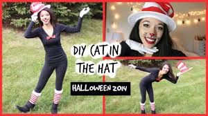 Cat In The Hat Costume Diy Halloween Costume Cat In The Hat Youtube
