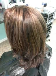 medium lentgh hair with highlights and low lights mocha brown highlight lowlight medium length hair hair by kon
