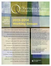 working groups obermann center for advanced studies