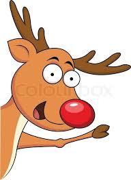 christmas reindeer christmas reindeer rudolf stock vector colourbox