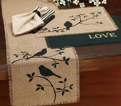 Primitive Table Runners by Americana Star Burlap Table Runner Americanatable Runner