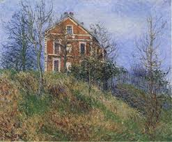 red house near port marly gustave loiseau wikiart org