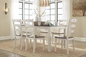ashley woodanville dining table with 6 chairs set d335 425 oc
