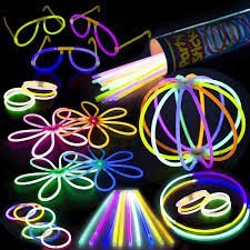Glow In The Dark Party Decorations Ideas Amazon Com Glow Sticks Bulk Party Supplies Pack 100 Pc 8