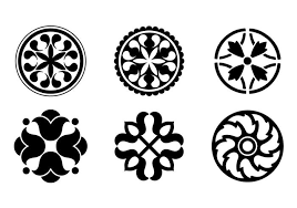 circular design ornaments free vector stock
