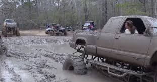 mudding truck for sale country girls go too deep in chevy mud truck america loves horsepower