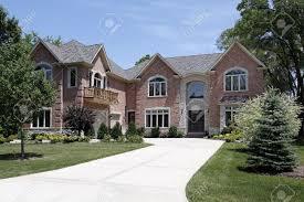 Luxury Exterior Homes - luxury homes exterior brick interior design