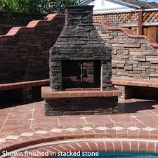 Stacked Stone Outdoor Fireplace - mirage stone outdoor fireplaces woodlanddirect com outdoor