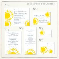sunflower wedding invitations sunflower wedding invitations with yellow sunflower