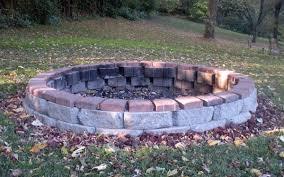 Round Brick Fire Pit Design - fire pit best modern fire pit materials outdoor gas fire pits
