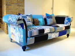 Patchwork Upholstered Furniture - so cool my husband would it quilting