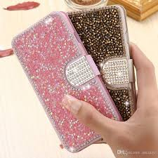 Rhinestone Business Card Holder Cool For Iphone 7 Gold Bling Sand Leather Case For Apple Iphone 6