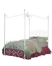 American Standard Bedroom Furniture by Princess White Twin Canopy Bed 299 99 Sku 127067 Dimensions