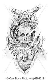 tattoo gun sketch tattoo machine clipart 2038914