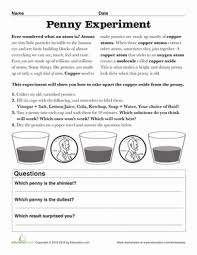 how to clean copper pennies worksheet education com
