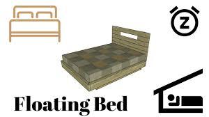 floating bed frame plans youtube