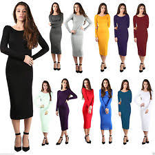 plus size maxi long sleeve dresses for women ebay