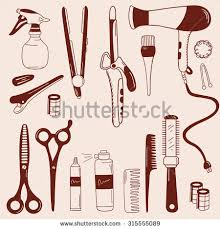 barber barbershop hand drawn icon set stock vector 315555089