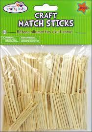 craft medley wood craft match sticks 2 in 750 pc createforless