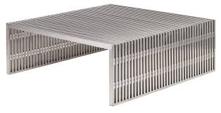 Amici Coffee Table Coffee Table Amici Coffee Table In Stainless Steel By Nuevo