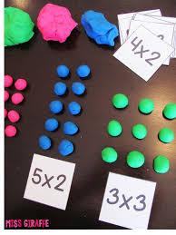 how to teach arrays use dough to build rectangular arrays and so