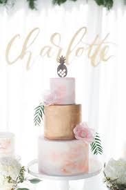 Tropical Theme Birthday Cake - cake from a chic tropical hawaiian themed birthday party via