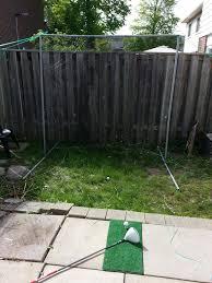 homemade golf net golf