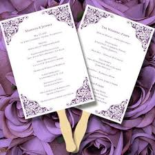 purple wedding programs 47 best wedding program fans diy printable templates images on