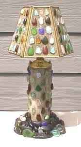 genuine sea glass jewelry by capt cass sea glass lamps page