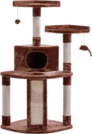 cat furniture frisco 48 inch cat tree large brown chewy com