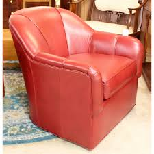 Ethan Allen Leather Chairs Ethan Allen Red Leather Barrel Chair Upscale Consignment