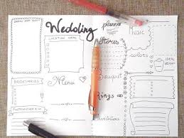 printable planner diary wedding planner journal wedding ideas agenda diary diy planner