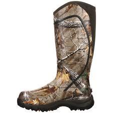 rocky core men u0027s camo rubber hunting boots