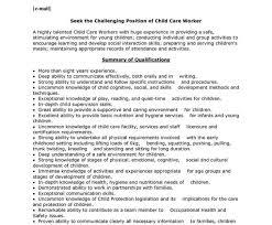 Child Care Worker Sample Resume Child Care Resume Resume Recreation Therapist Child Development