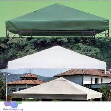 gazebo telo top copertura telo ricambio gazebo legno metallo 3x3 verde bianco