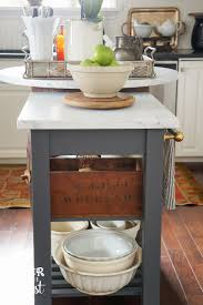 kitchen cart makeover ideas diy island and oliver and rust ikea hacking the kitchen for more counter space add marble island cartkitchen