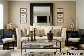 Budget Living Room Furniture Mirror Sofa And Candles On Coffee Table Add Sophistication