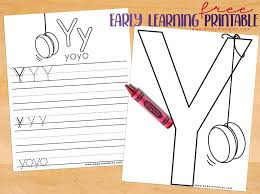 letter y writing practice and coloring page printables u2013 dorky doodles