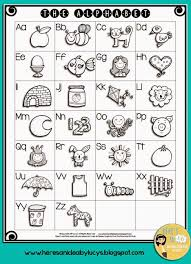 alphabet activities free black line abc anchor chart poster