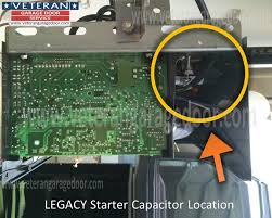 Legacy Overhead Door Backyards Replace The Starter Capacitor Garage Door Opener