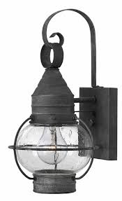 Outdoor Light Fixture With Outlet by Hinkley 2206dz Cape Cod Nautical Aged Zinc Outdoor Wall Lamp Hin