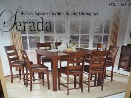 universal furniture serada 9 piece counter height dining set