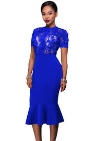 blue bodycon dress royal blue lace top bodycon dress fashion affair boutique