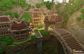 Harry Potter Adventure Map Minecraft Mountain Castle Fortress