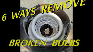 6 ways to remove broken light bulb from socket youtube