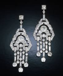 Gunmetal Chandelier Earrings Threaded Stud Earrings Sparkly Silver Earrings Necklace Earrings