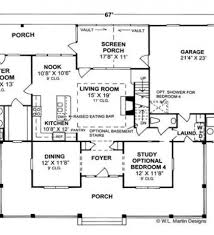 Country Style Open Floor Plans Country Floor Plans